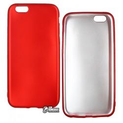 Чехол защитный для iPhone 6/6S, матовый силиконовый, красный