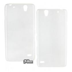 Чехол ультратонкий для Sony E5333 Xperia C4, E5343, E5363, силиконовый, прозрачный