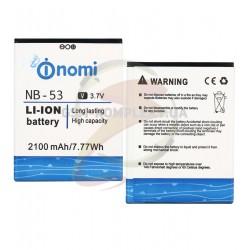 Аккумулятор NB-53 для Nomi i502 Style, Li-ion, 3,7 В, 2100 мАч, original
