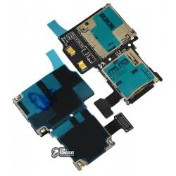Коннектор SIM-карты для Samsung I9505 Galaxy S4, с коннектором карты памяти, со шлейфом