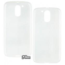 Чехол силиконовый для Motorola XT1622 Moto G4, XT1625 Moto G4 LTE, XT1642 Moto G4 Plus, бесцветный, прозрачный