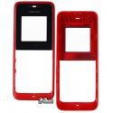 Корпус для Nokia 105, high-copy, красный, передняя и задняя панель