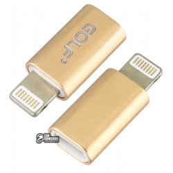 Переходник с Micro-USB (female) на Lightning (male), Golf GC-31