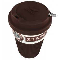 Термостакан Starbucks с крышкой, коричневый