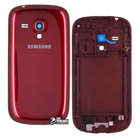 Корпус для Samsung I8190 Galaxy S3 mini, бордовый