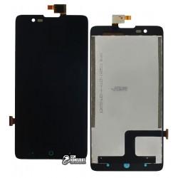 Дисплей для ZTE V5 Lux, V5 Redbull V9180, черный, с сенсорным экраном (дисплейный модуль)