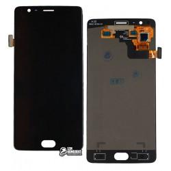 Дисплей для OnePlus 3, черный, с сенсорным экраном (дисплейный модуль)