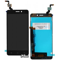 Дисплей для Lenovo K6 (K33a48), черный, с сенсорным экраном (дисплейный модуль)