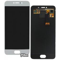 Дисплей для Meizu Pro 6, белый, с сенсорным экраном, original (PRC)