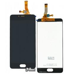 Дисплей для Meizu M5c, черный, с сенсорным экраном, original (PRC)