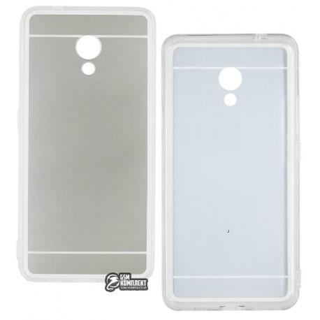 Чехол защитный TOTO Mirror для Meizu M5s, силиконовый, с зеркальной вставкой