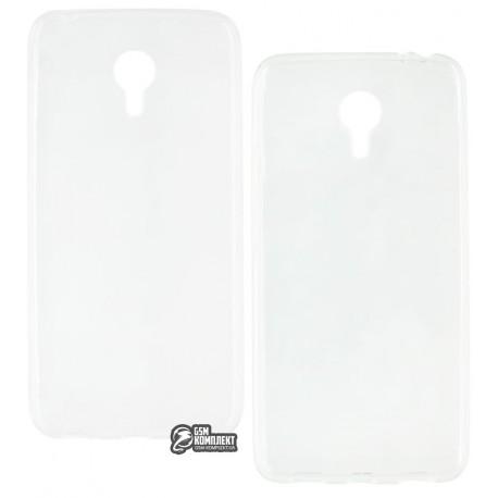 Чехол защитный для Meizu M3 Note, силиконовый, прозрачный
