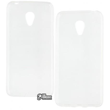 Чехол защитный для Meizu M3, силиконовый, прозрачный