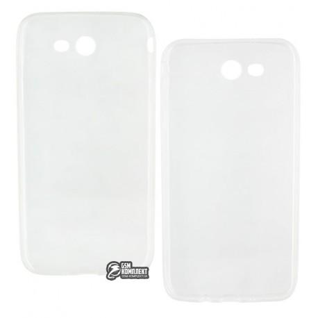 Чехол ультратонкий для Samsung J700H Galaxy J7(2015), силиконовый, прозрачный