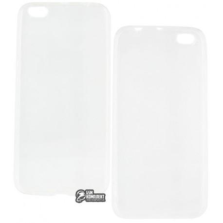 Чехол ультратонкий для Xiaomi Mi5c, силиконовый, прозрачный