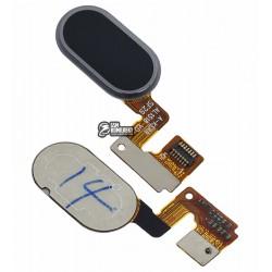 Шлейф для Meizu M3 Note, черный, кнопки меню, с компонентами, M681H/M681Q/M681C