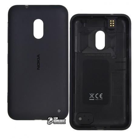 Задняя панель корпуса для Nokia 620 Lumia, черная, с боковыми кнопками