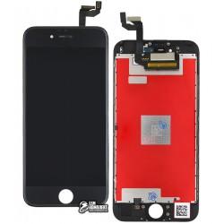Дисплей iPhone 6S, черный, с сенсорным экраном (дисплейный модуль),с рамкой, copy
