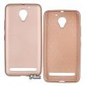 Чехол для Lenovo Vibe C2 (K10A40) силиконовый, карбон, розовое золото