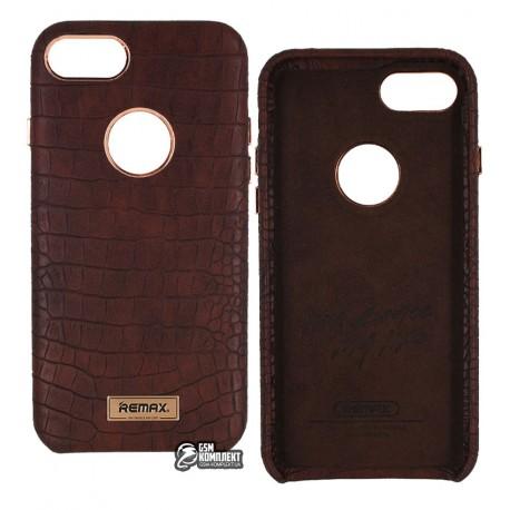 Чехол-накладка Remax Maso Series for iPhone 7 коричневый