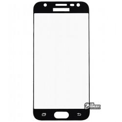 Закаленное защитное стекло для Samsung J330H Galaxy J3 (2017), 0,26 мм 9H, черное