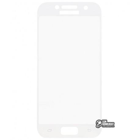 Загартоване захисне скло для Samsung A320 Galaxy A3 (2017), 3D, с закругленными углами, 0,26 мм 9H, біле