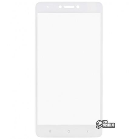 Загартоване захисне скло Tiger Glass для Xiaomi Redmi Note 4X, 0,26 мм 9H, 2.5D, біле