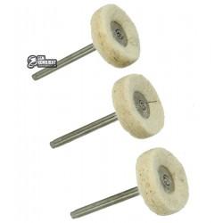 Набор полировочных кругов FIT, шерсть, 3шт