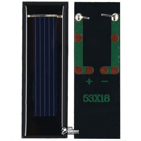 Солнечная батарея размер 53 мм * 18 мм * 2,5 мм, 0,5 V 100 mA 0.05W