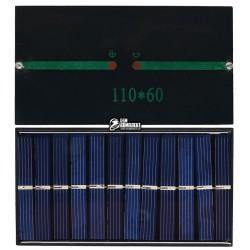 Солнечная батарея размер: 110 мм * 60 мм * 2,5 мм, 6V 200mA 1W