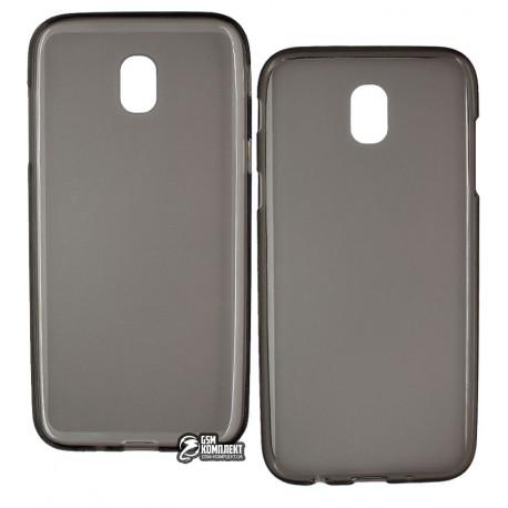 Чехол защитный для Samsung J530F Galaxy J5 2017, силиконовый, прозрачный, черный