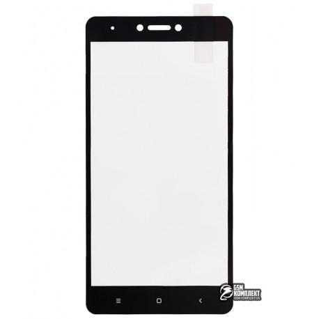 Загартоване захисне скло Tiger Glass для Xiaomi Redmi Note 4X, 0,26 мм 9H, 2.5D, чорне