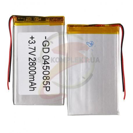 Аккумулятор универсальный (акб), для телефона, планшета, GPS, 85 мм, 50 мм, 4,0 мм, Li-ion, 3,7 В, 2800 мАч