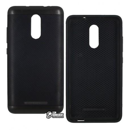 Чохол захисний iPaky для Xiaomi Redmi Note 3 Pro, силикон+пластиковая рамка, чорний