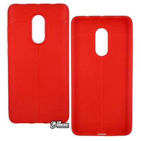 ЧехолзащитныйAutoFocusдляXiaomiRedmiNote4X,силиконовый,красный