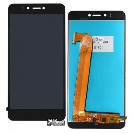 Дисплей для Prestigio MultiPhone 3531 Muze E3, MultiPhone 7530 Muze A7, MultiPhone PSP 3530 Muze D3, черный, с сенсорным экраном
