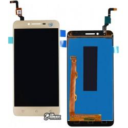 Дисплей для Lenovo A6020a40 Vibe K5, золотистый, с сенсорным экраном, #L5062H3G-FPC