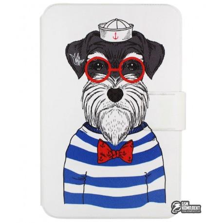 """Чехол книжка универсальная для планшетов 7 дюймов, с рисунком """"Собака"""""""