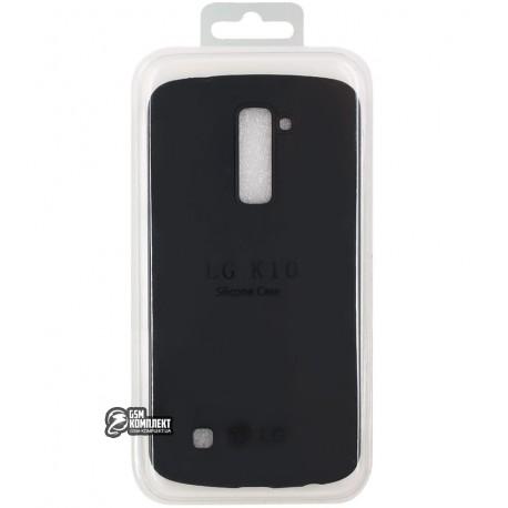 Чохол захисний Silicone case для LG K10 K410, K10 K420N, K10 K430DS, K10 K430DSF, K10 K430DSY, replica, чорний