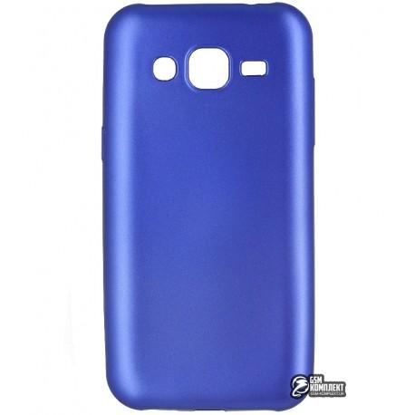 Чехол защитный для Samsung J200 Galaxy J2, силиконовый, голубой