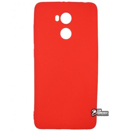 Чехол защитный для Xiaomi Redmi 4, pvc, красный