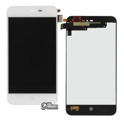 Дисплей для Meizu MX2, белый, с сенсорным экраном (дисплейный модуль)