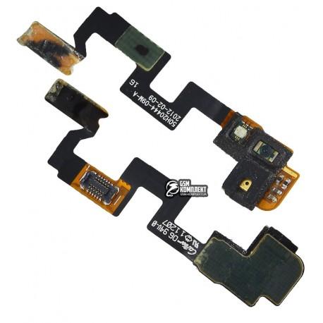 Шлейф для HTC G23, S720e One X, з датчиком приближення, кнопки ввімкнення, з компонентами