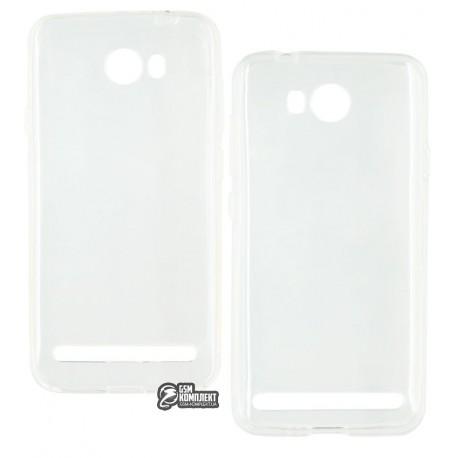 Чехол защитный для Huawei Ascend Y3 II, силиконовый, прозрачный