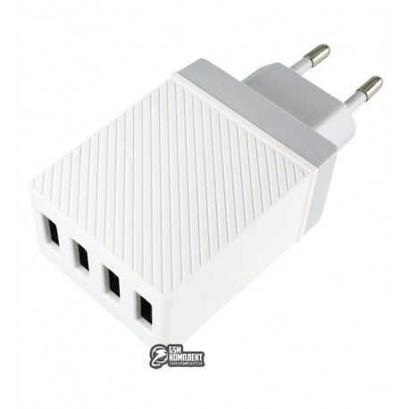 Сетевое зарядное устройство HOCO C23B 4USB 3.4A (Белый)