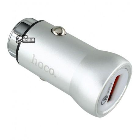 Автомобильное ЗУ HOCO Z4 1USB Quick Charge 2.0 2,1А (Серый)