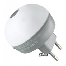 Сетевое зарядное устройство HOCO H1 mini 2USB 2.1A + светодиодный ночник (Белый)