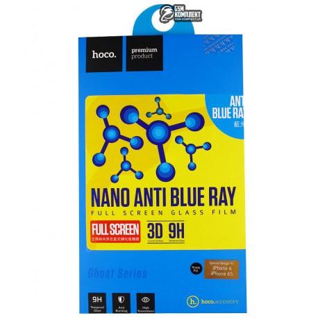 Защитное стекло HOCO Ghost Series 3D Full Nano Anti-Blue IPhone 6/6S 0.15мм (Черный)