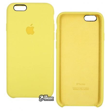 Чехол защитный Silicone Case для Apple iPhone 6/6s, силиконовый, софттач, черный