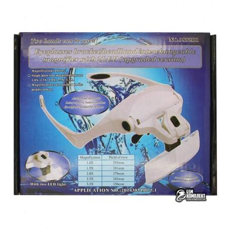Бинокуляр 9892B1 с LED-полсветкой и набором линз 5шт